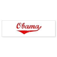 Obama (vintage-red) Bumper Sticker