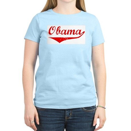 Obama (vintage-red) Women's Light T-Shirt