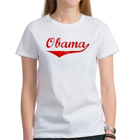 Obama (vintage-red) Women's T-Shirt