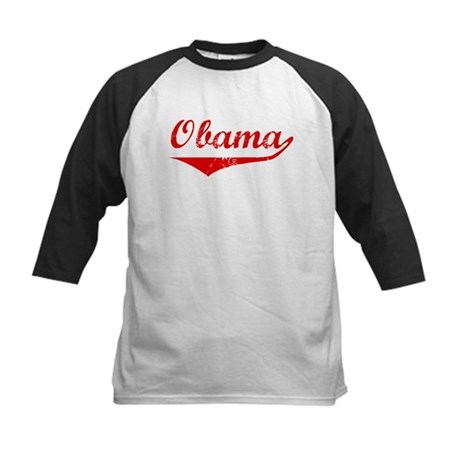 Obama (vintage-red) Kids Baseball Jersey