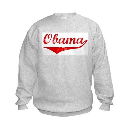 Obama (vintage-red) Kids Sweatshirt