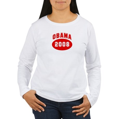 Obama 2008 (red) Women's Long Sleeve T-Shirt
