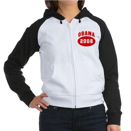 Obama 2008 (red) Women's Raglan Hoodie