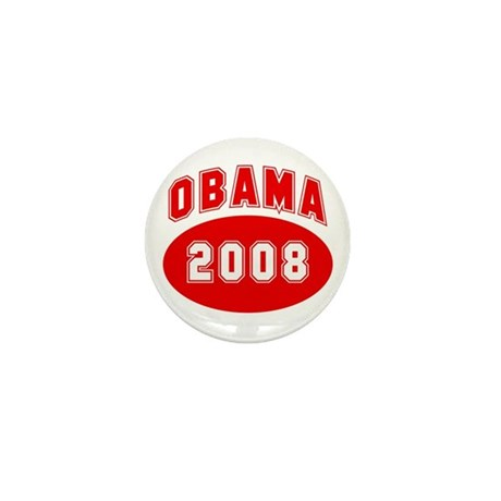 Obama 2008 (red) Mini Button (100 pack)