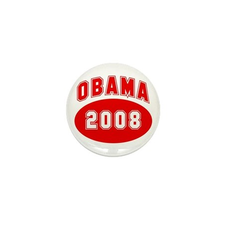 Obama 2008 (red) Mini Button