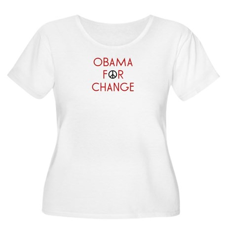 Obama For Change  Women's Plus Size Scoop Neck T-S