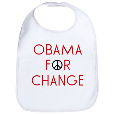 Obama For Change  Bib