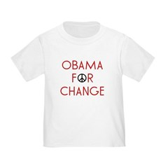 Obama For Change Toddler T-Shirt