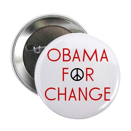 Obama For Change Button