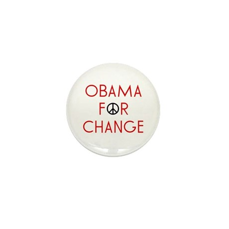 Obama For Change  Mini Button (100 pack)