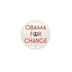 Obama For Change Mini Button (10 pack)