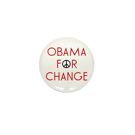 Obama For Change Mini Button