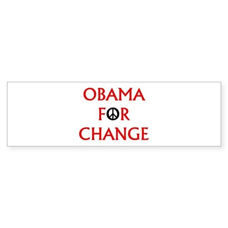 Obama for Change (Peace) Bumper Sticker