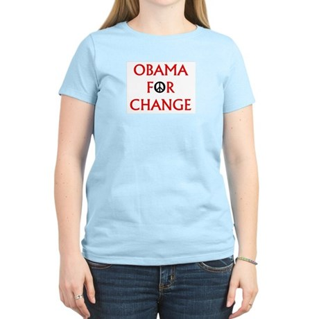Obama for Change (Peace) Women's Light T-Shirt