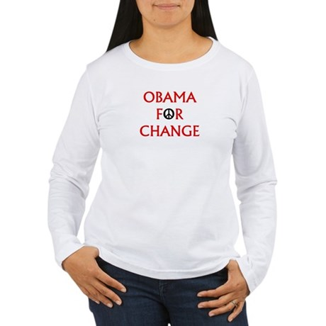 Obama for Change (Peace) Women's Long Sleeve T-Shi
