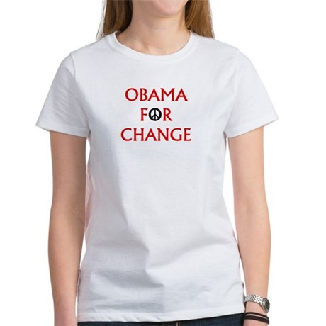 Obama for Change (Peace) Women's T-Shirt