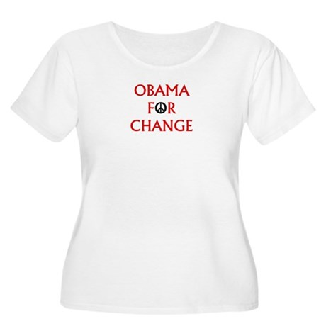 Obama for Change (Peace) Women's Plus Size Scoop N