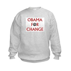 Obama for Change (Peace) Kids Sweatshirt