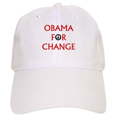 Obama for Change (Peace) Cap