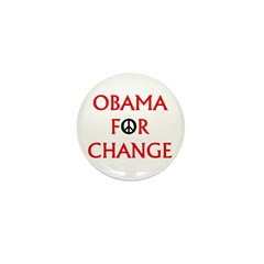 Obama for Change (Peace) Mini Button (100 pack)