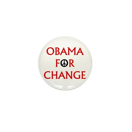 Obama for Change (Peace) Mini Button (10 pack)
