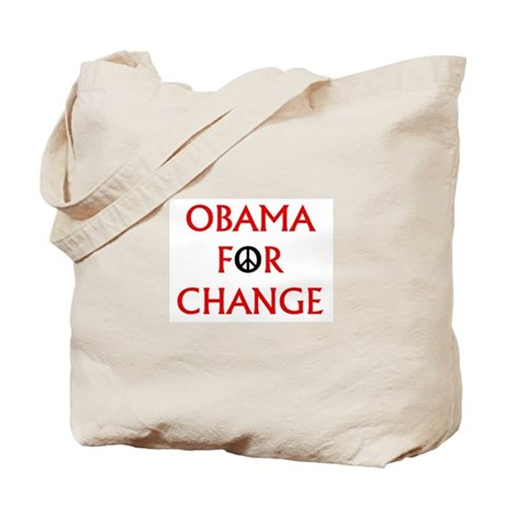 Obama for Change (Peace) Tote Bag