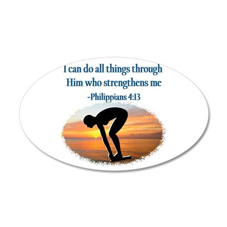 CHRISTIAN SWIMMER 20x12 Oval Wall Decal