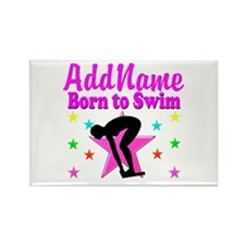 SWIMMER DREAMS Rectangle Magnet