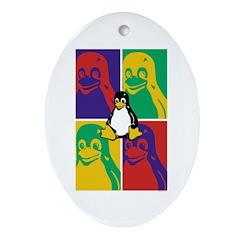 Warhol Tux Oval Ornament