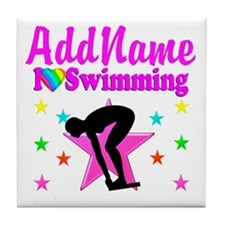 LOVE SWIMMING Tile Coaster
