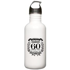 60th birthday vintage design Water Bottle