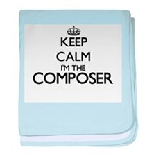 Keep calm I'm the Composer baby blanket