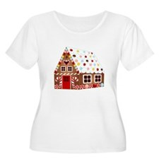 Gingerbread HOUSE Plus Size T-Shirt
