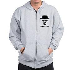 Custom Text Heisenberg Logo Zip Hoodie