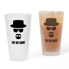 Custom Text Heisenberg Logo Drinking Glass