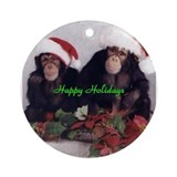 Valbuena Chimps Ornament (Round)