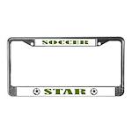 Soccer Sports Gift License Plate Frame