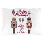 Happy Holidays Nutcracker Pillow Case
