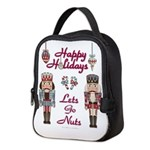 Happy Holidays Nutcracker Neoprene Lunch Bag
