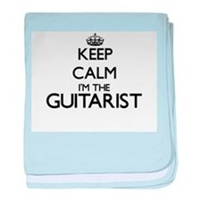 Keep calm I'm the Guitarist baby blanket