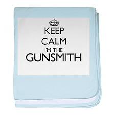 Keep calm I'm the Gunsmith baby blanket
