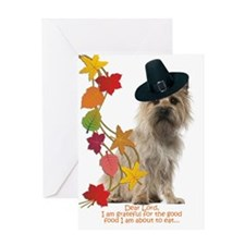 Funny Cairn Terrier Thanksgiving Greeting Cards