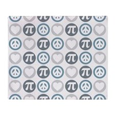 Peace Love Pi Pattern Throw Blanket