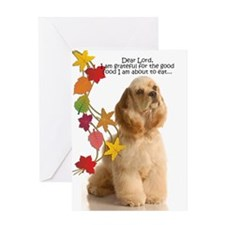 Funny Cocker Spaniel Thanksgiving Greeting Cards