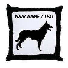 Custom Border Collie Silhouette Throw Pillow