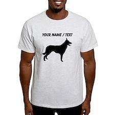 Custom Border Collie Silhouette T-Shirt