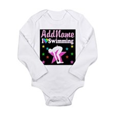 AWESOME SWIMMER Long Sleeve Infant Bodysuit