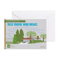 Trees Provide Wind Breaks Card Greeting Cards