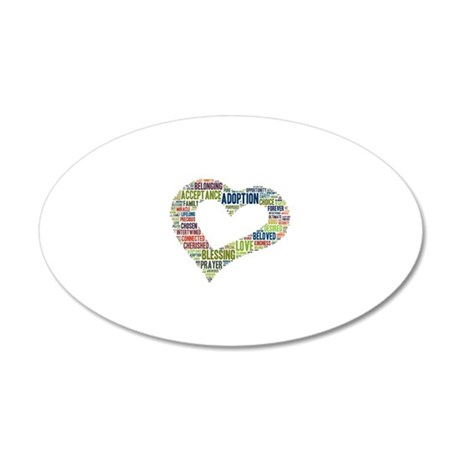 heart fulfilled 20x12 Oval Wall Decal