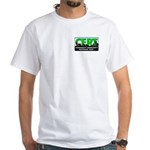CERT White T-Shirt, logo front & back